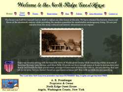 North Ridge Guest House homepage